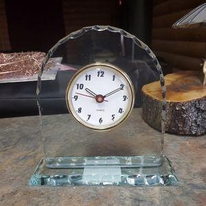 Lucite desk clock